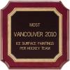 Največ poslikav ledene površine glede na hokejsko ekipo: Vancouver 2010
