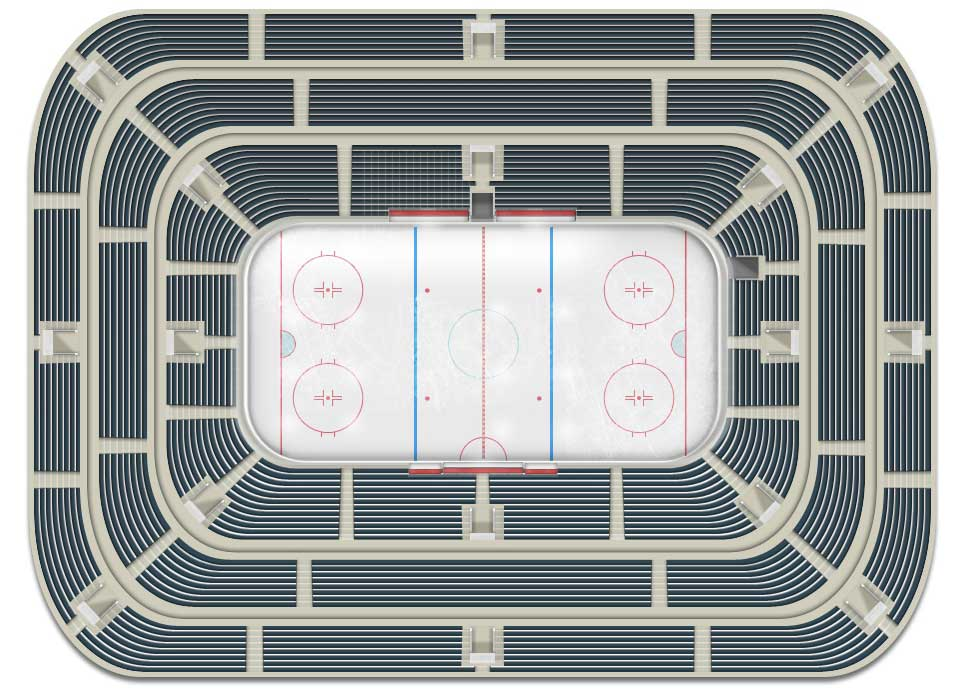 New design of hockey arena