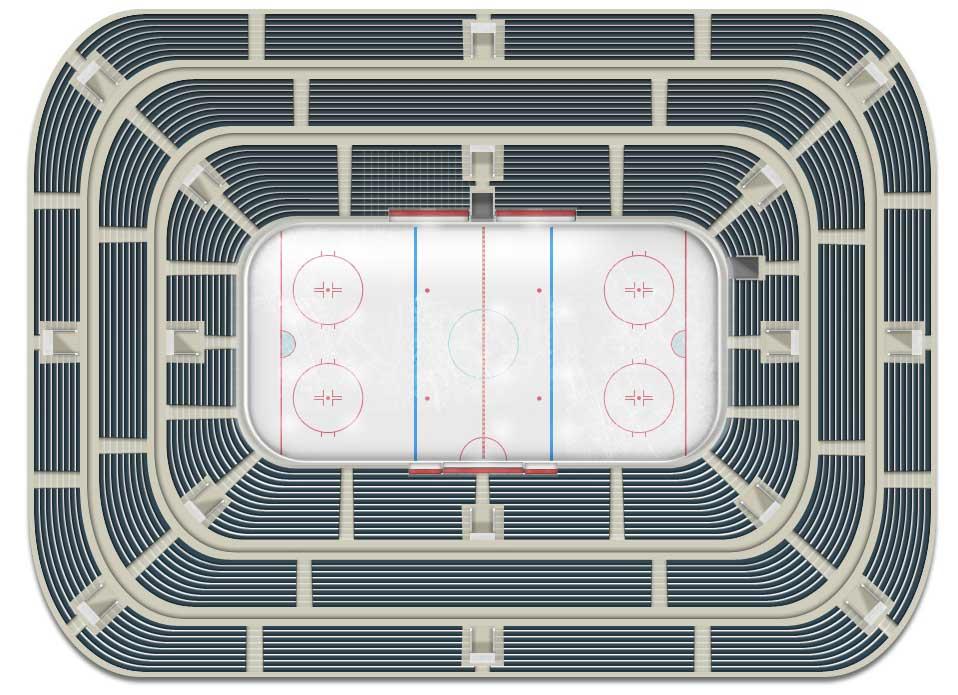 New design of hockey arena