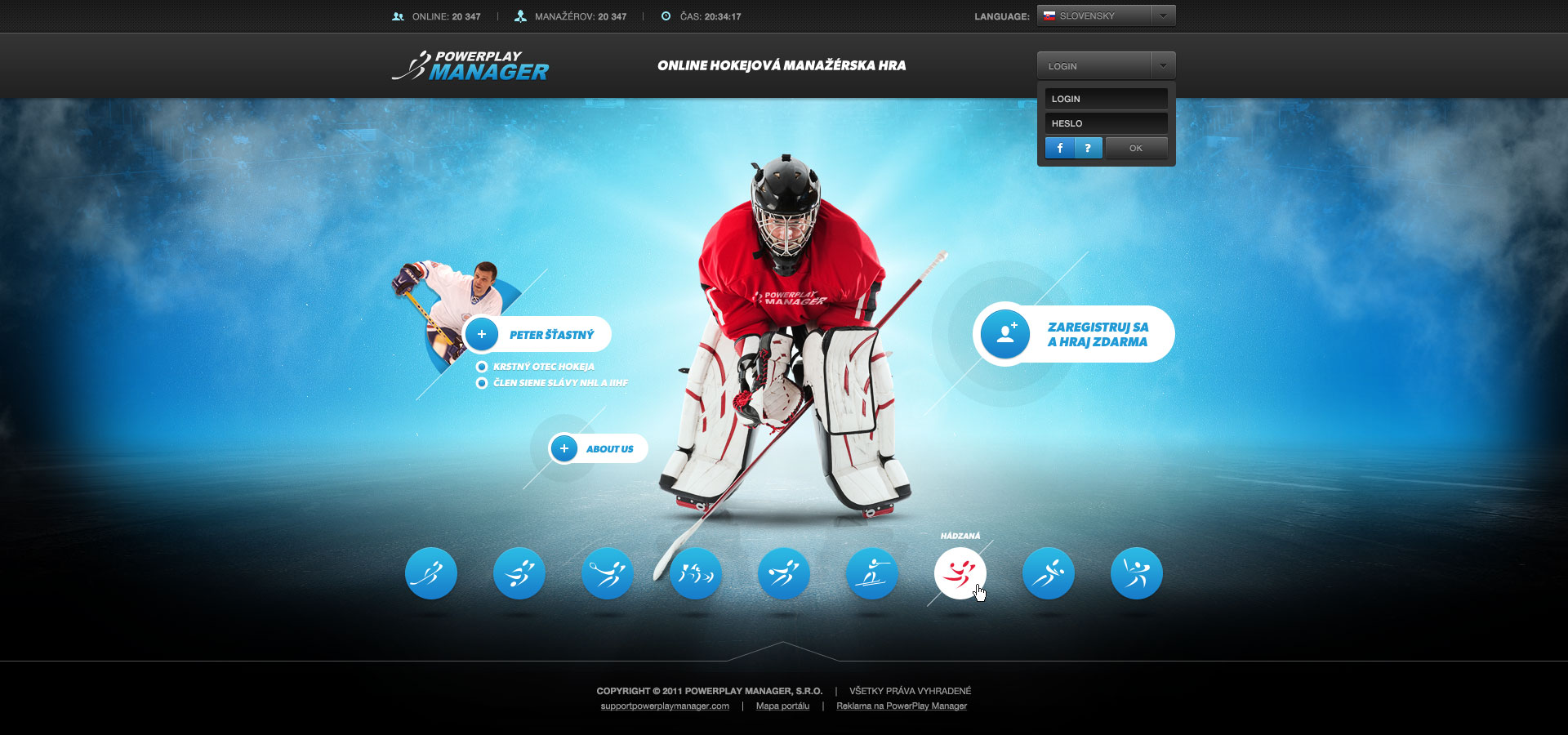 New version of hockey welcome page