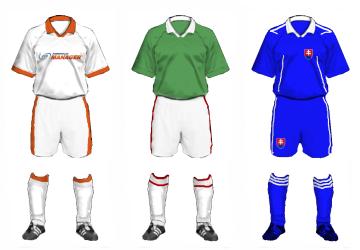 Futbola formastērpu paraugi