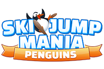 Online ski jumping game full of penguins - Ski Jump Mania Penguins