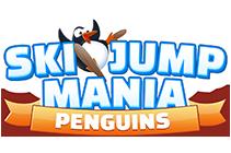 Spletna skakalna igra polna pingvinov - Ski Jump Mania Penguins
